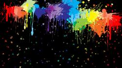 ... Paint Splatter Background ...
