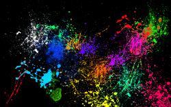 Colorful Paint Splatter Wallpaper7