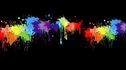 Paint Splatter Wallpaper