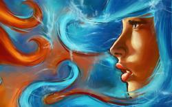 Painting Art Beautiful Girl Face