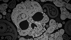Paisley Skull Wallpaper