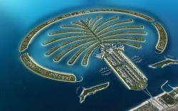 Palm Jumeirah Island architectural masterpiece in Dubai