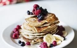 Pancakes Berries Raspberries