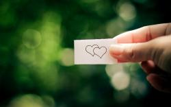 Paper Hearts Love Mood Bokeh