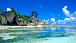 rock paradise beach new desktop wallpaper in widescreen free download