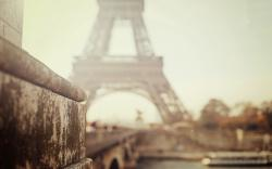 Paris eiffel tower blurred