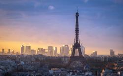 Paris morning sun