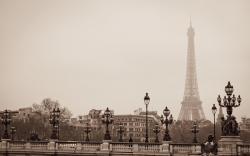 Eiffel Tower Paris France Greyscale Hd Wallpaper 1680x1050PX .