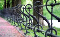 Park metal fence