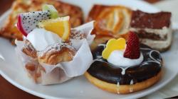 Fruits food donuts pastries wallpaper