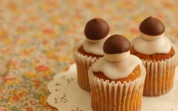 Cupcakes Dessert Pastry Chocolate Sweets Table HD Wallpaper