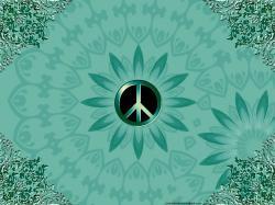 Peace Sign Wallpaper in Green Desktop Pc 1024x768px