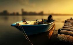 Peaceful Boat Wallpaper