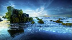 Beautiful Peaceful Beach Hde wallpaper