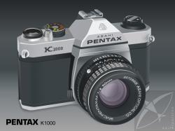 ... Asahi Pentax Analog Camera K1000   by KIRLAANGIC