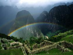 Rainbow Over Machu Picchu Peru Wallpaper