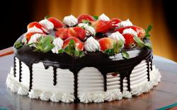 Chocolate food cake sweets (candies) desserts icing wallpaper background