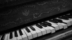 Black And White Sacred Piano Wallpaper Picture 257