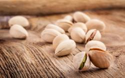 Pistachio Nuts Table Wood