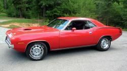 plymouth barracuda muscle cars orange classic wallpaper background