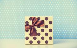 Polka Dots Gift Ribbon Bow Christmas