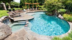 Full Size of Swimming Pool, Wonderful inground pool design ceramic tile natural stone deck small ...