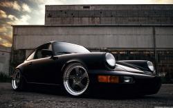Porsche 911 Carrera 2 964 Black Car Images