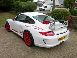 2010 Porsche 997 GT3 RS (post-facelift) rear.