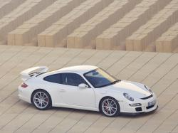 2007 White Porsche 911 GT3 wallpapers