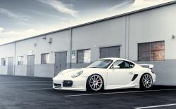 Porsche White Car Wheels Tuning