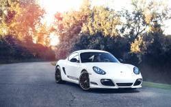 Porsche Cayman R Car White