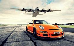 Porsche GT3 RS Aircraft Photo HD Image Wallpaper   HD Car Wallpaper   Things to Wear   Pinterest