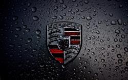 Dark Porsche Logo Wallpaper