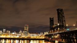 Portland city lights at night HD Wallpaper