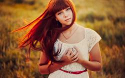 Portrait Redhead Dress