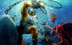 Poseidon mermaid