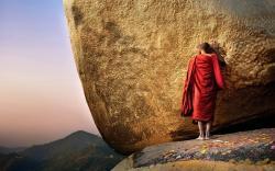 Praying monk burma