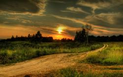 Pretty Dirt Road Wallpaper