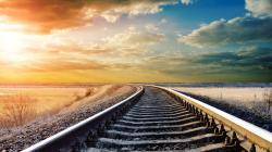 Stunning Train Track Wallpaper