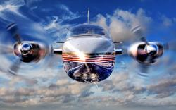 Propeller jet airplane