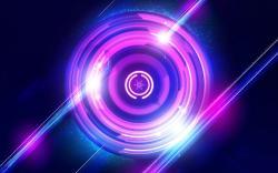 Purple circles light