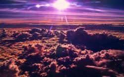 Purple clouds sunset