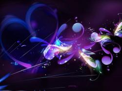 Download Free Wallpapers Backgrounds - Bee purple flowers Wallpapers Preview Abstract