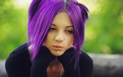 Girl purple hair