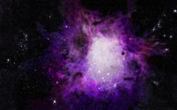 Purple orion nebula