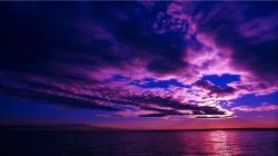 Deep Purple Sunset Wallpaper