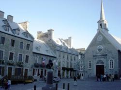 Notre-Dame-des-Victoires Church, Basse-Ville (Lower Town). Quebec City's ...