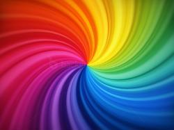 Spiral rainbow background