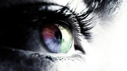 Rainbow colours eye