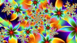 Widescreen resolutions (16:10): 1280x800 1440x900 1680x1050 1920x1200. Normal resolutions: 1024x768 1280x1024. Wallpaper Tags: colours vivid rainbow flowers